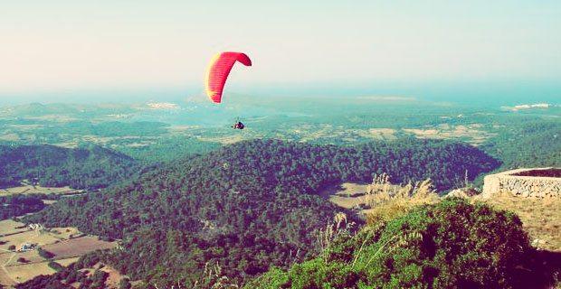 Paragliding in Menorca from Monte Toro