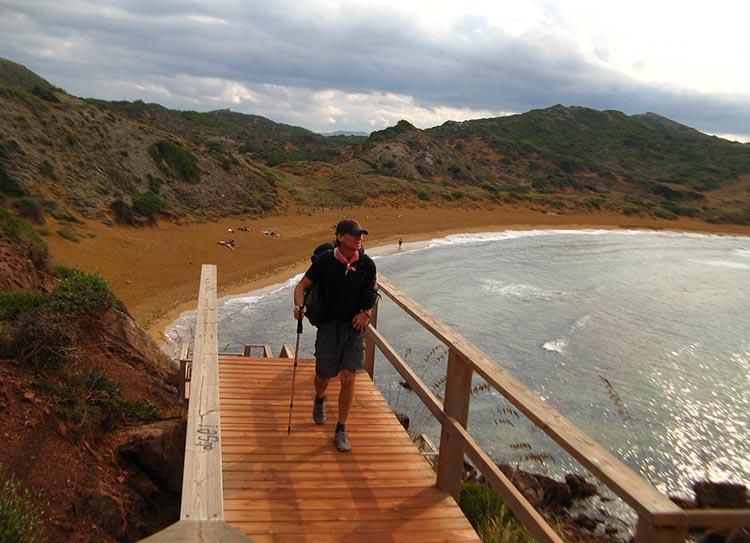 Jasper Winn near the beach of Cavallería on the North coast of Menorca